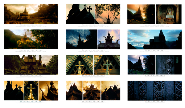 Stave Churches - Postcards